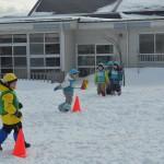 雪上サッカー教室