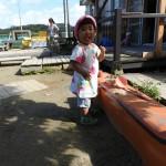 1歳児さんの園庭遊び