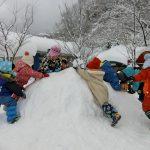大雪の中で遊んだよ♪~
