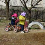 1歳児園庭あそび