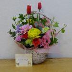 お祝いのお花をいただきました。