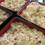 💛お祝いの赤飯と春の海の恵み(あおさ)料理